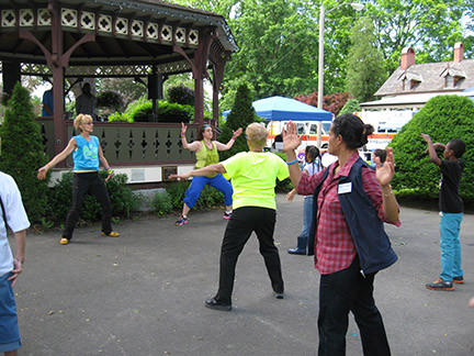 Zumba at the 2nd Annual Health and Wellness Fair