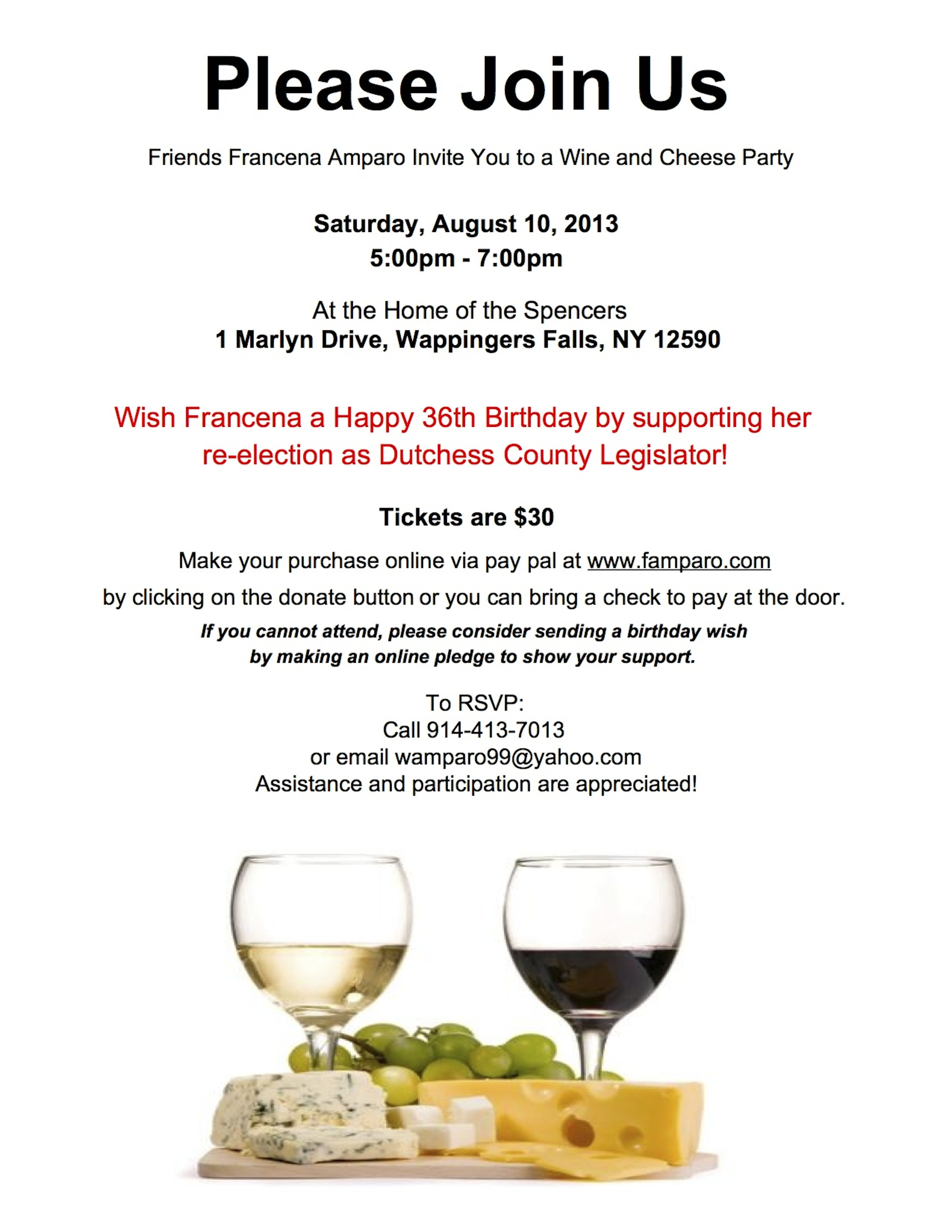 Wine and Cheese Party | Francena Amparo