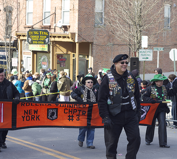 The Rolling Thunder at the Wappinger Falls St. Patrick's Day Parade. Photo Credit: Travis Jones
