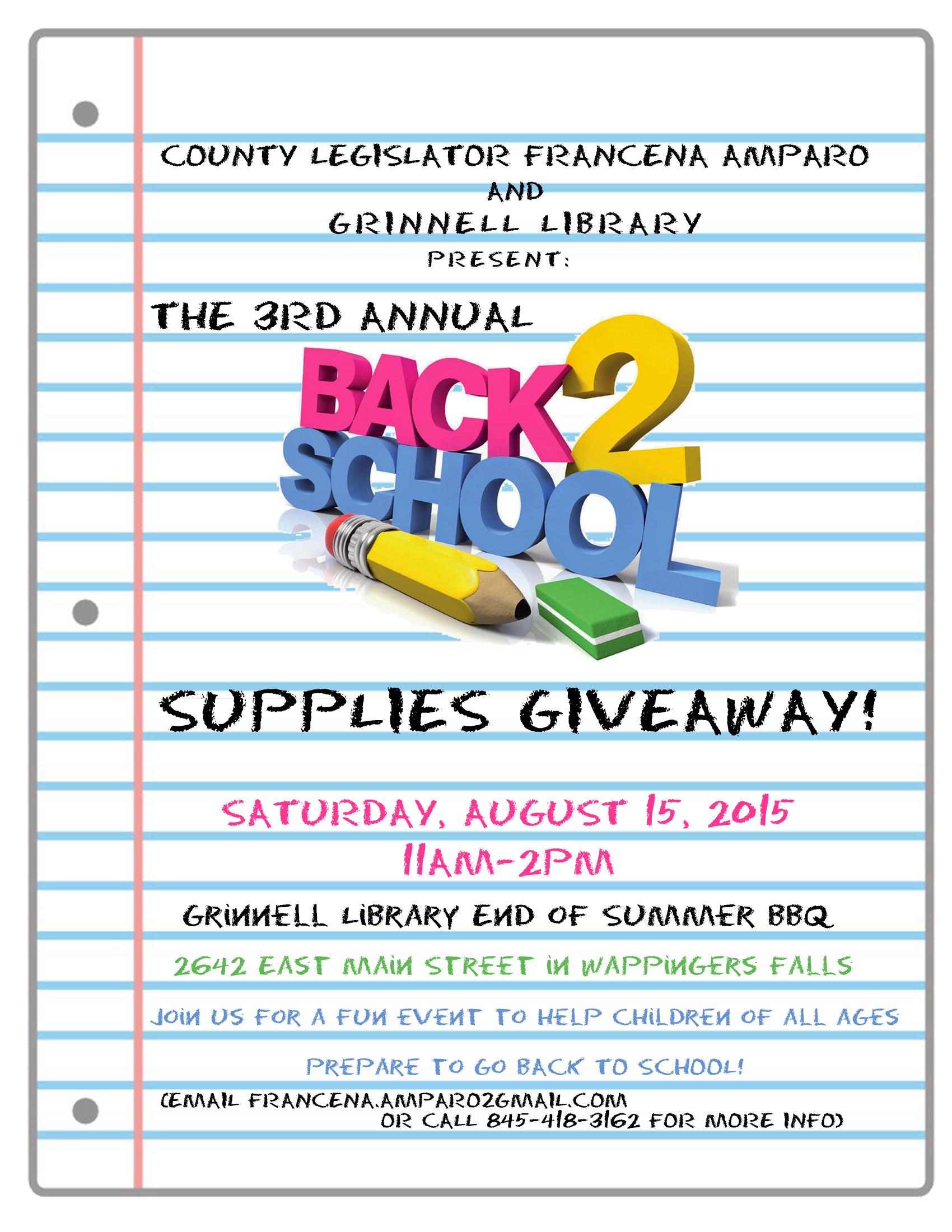 School Supplies School Supplies Giveaway